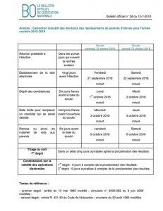 Calendrier Election 2019.Calendrier Elections Des Parents D Eleves Ponteil Elementaire