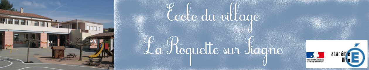 Site de l'école primaire du village de La Roquette sur Siagne